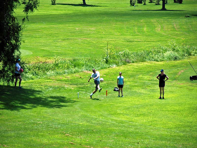 FOOT GOLF TEEING OFF