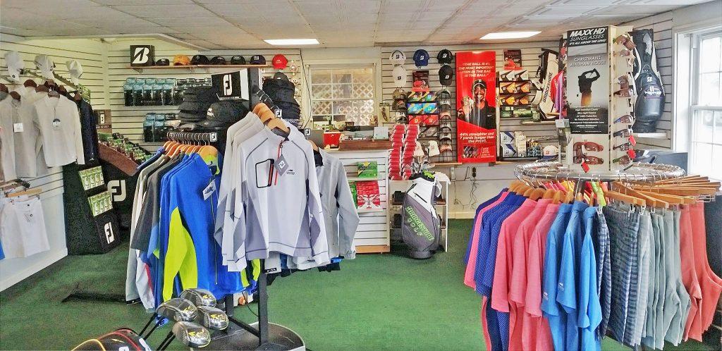 Christman's Well stocked golf shop by director of golf Eirik Leach